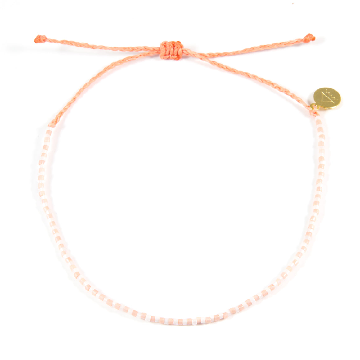 Coral Candy Striper Anklet