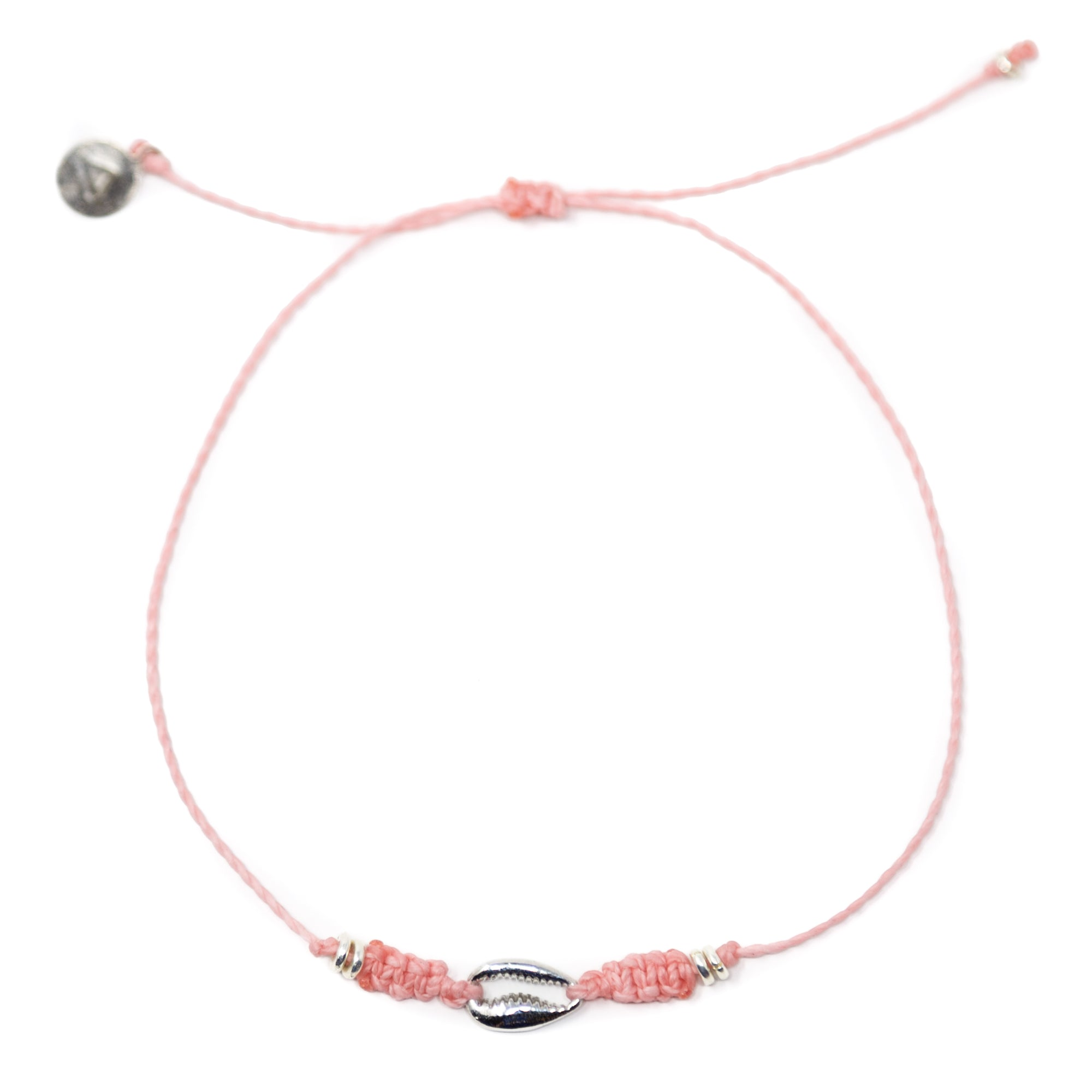 Pink Popoyo Anklet in Silver