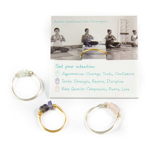 Aquamarine & Gold Intention Ring