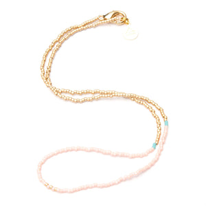 Light Coral Day at the Beach Necklace