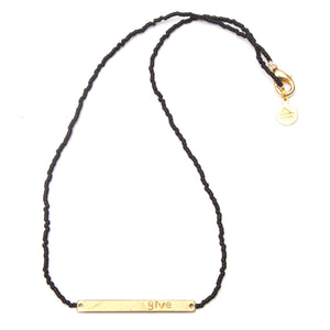 Black GIVE Necklace