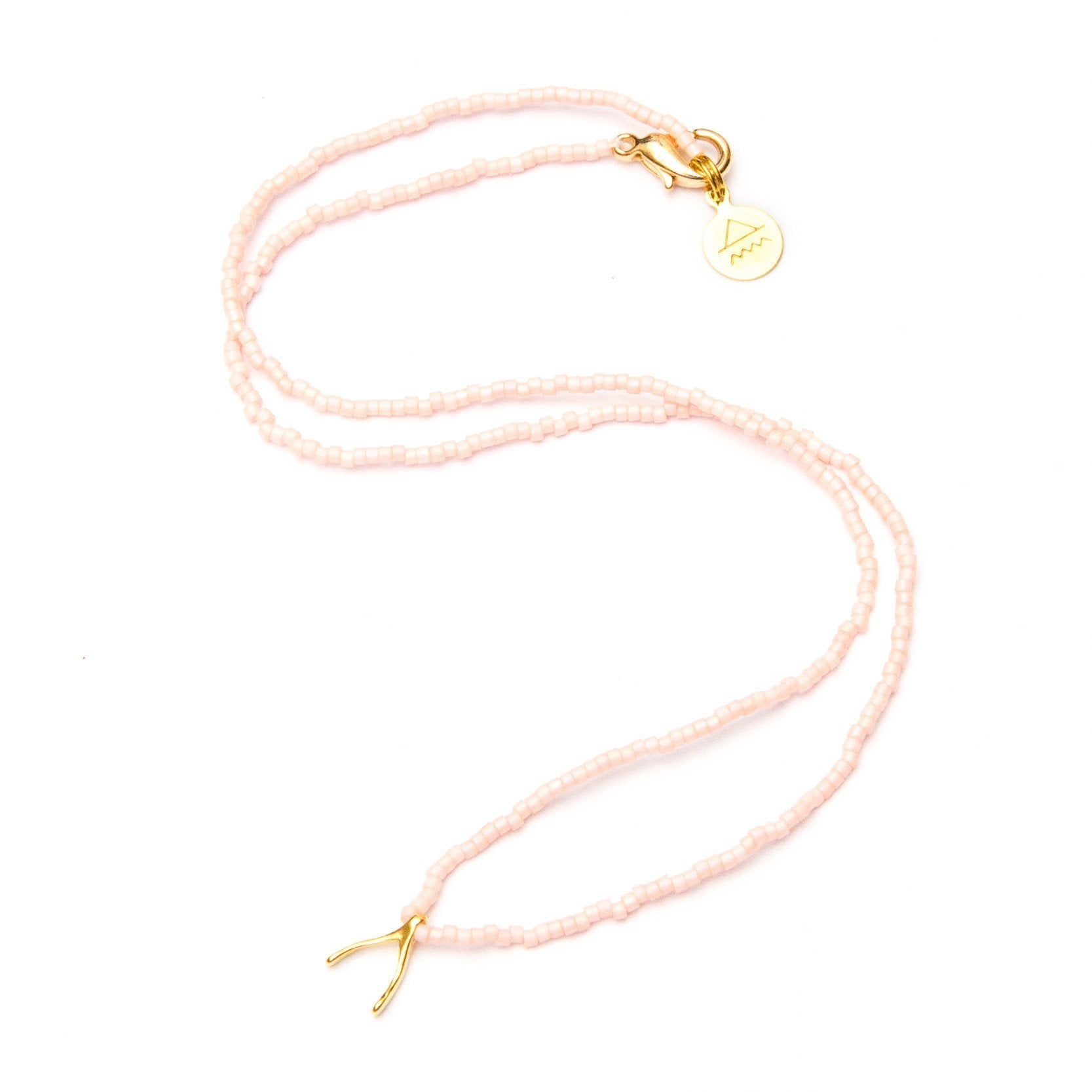 Light Coral Wishbone Necklace