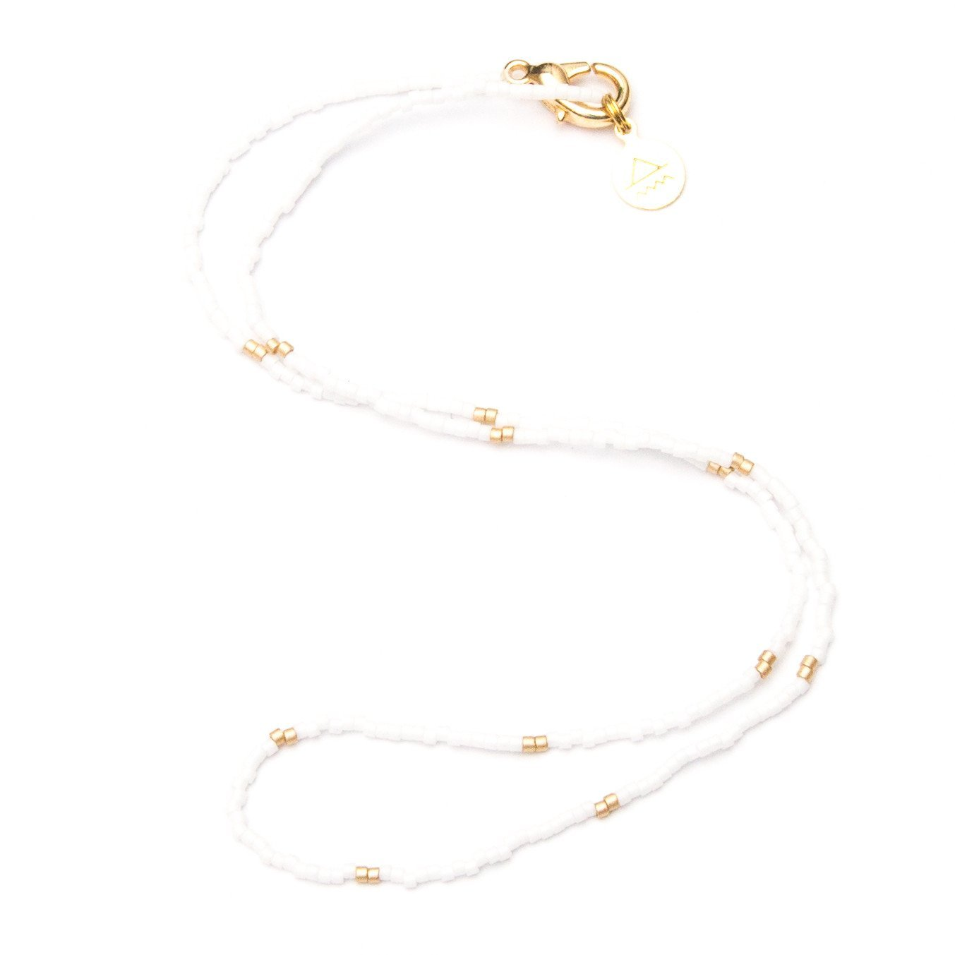 White w/ Gold Dot Necklace