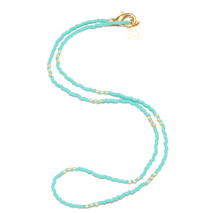 Teal Simple Statement Necklace