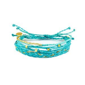 Teal & Gold Bracelet Stack
