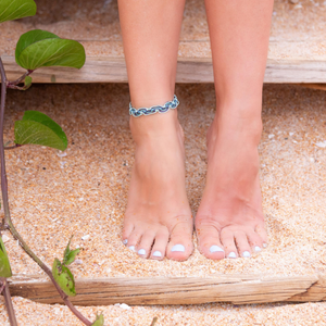 Blues Nica Wave Anklet