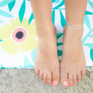 Cucumber Barely Beaded Anklet
