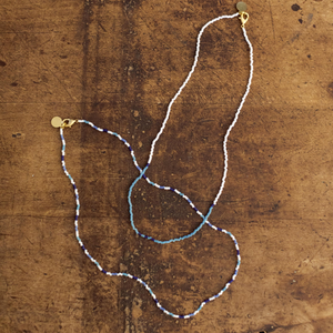 Blues Shades of Giving Wanderlust Necklace