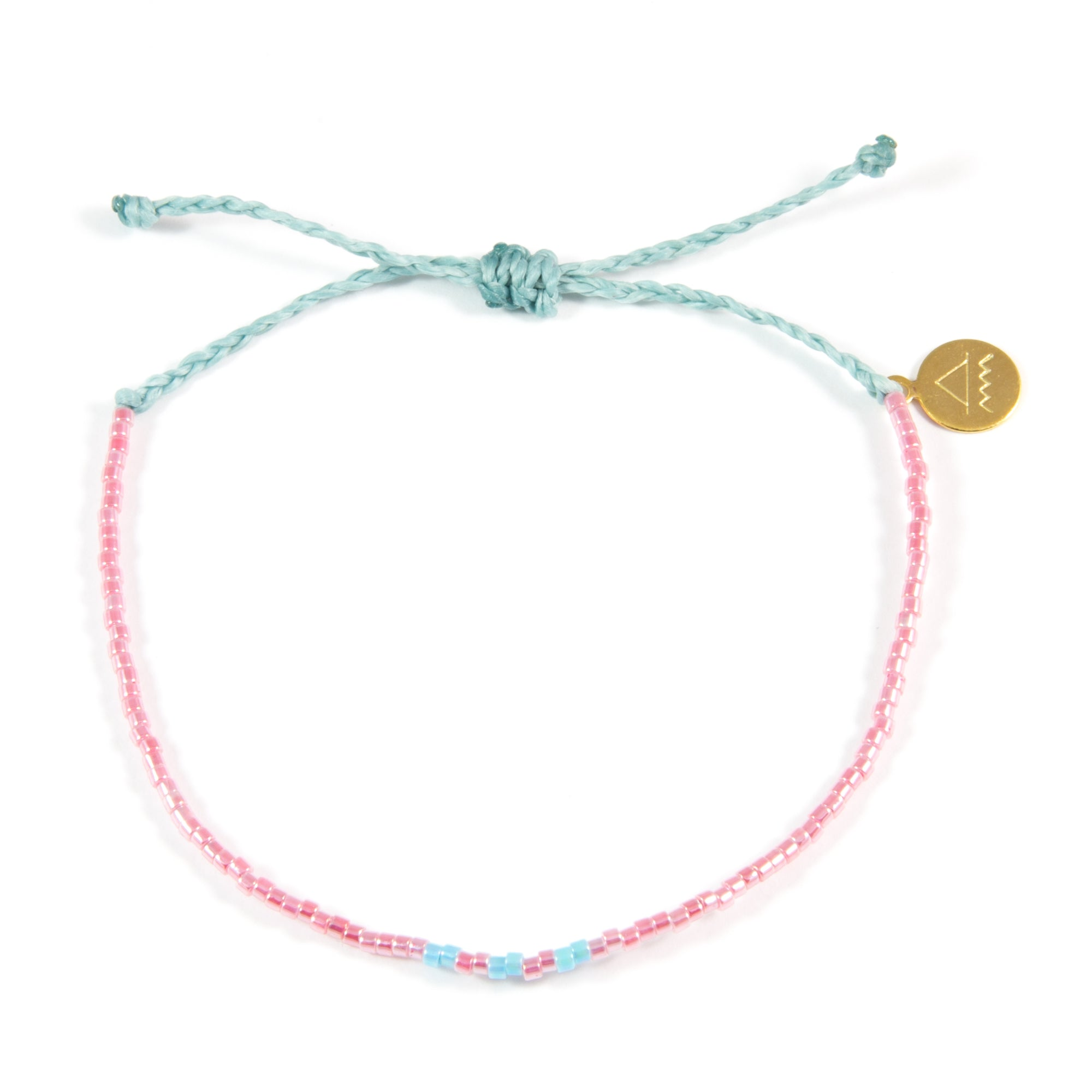 Watermelon Sky Blue Pattern Bead Bracelet