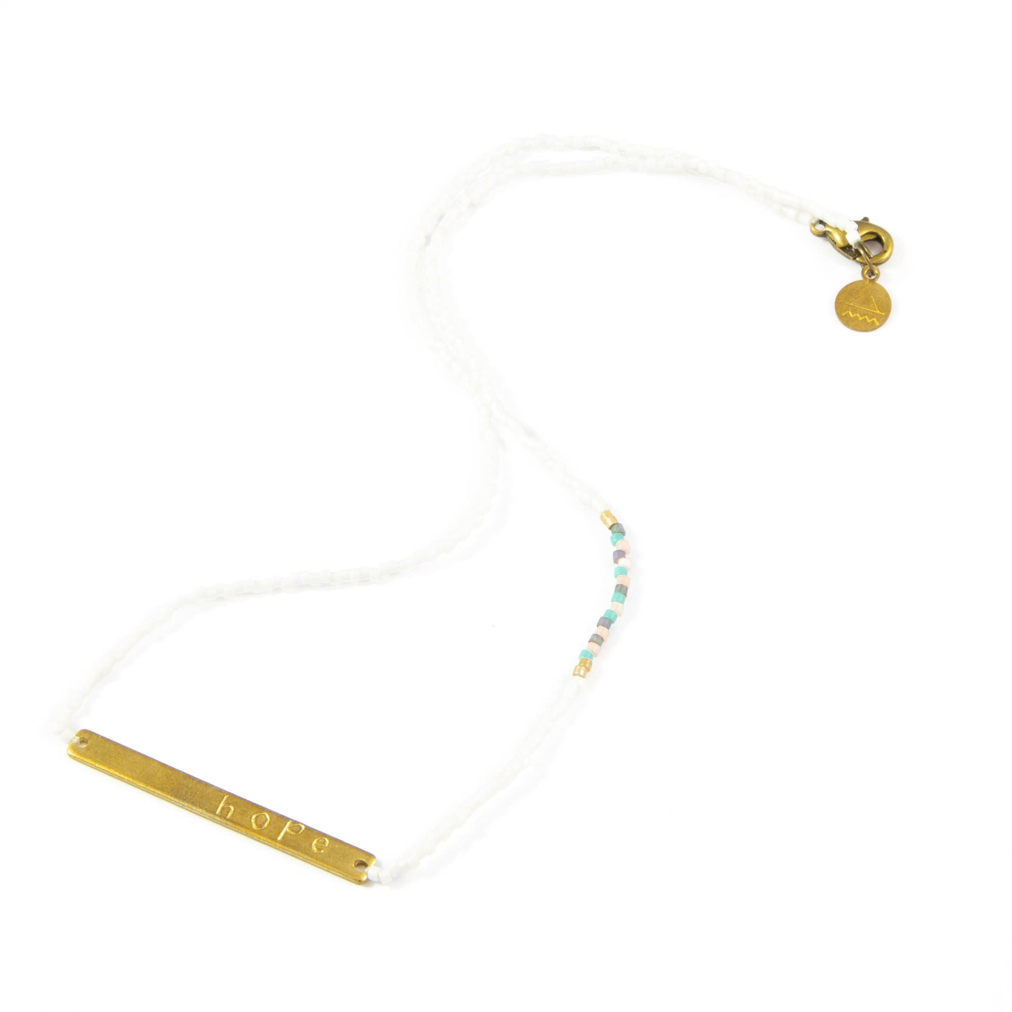 White Multi HOPE Necklace