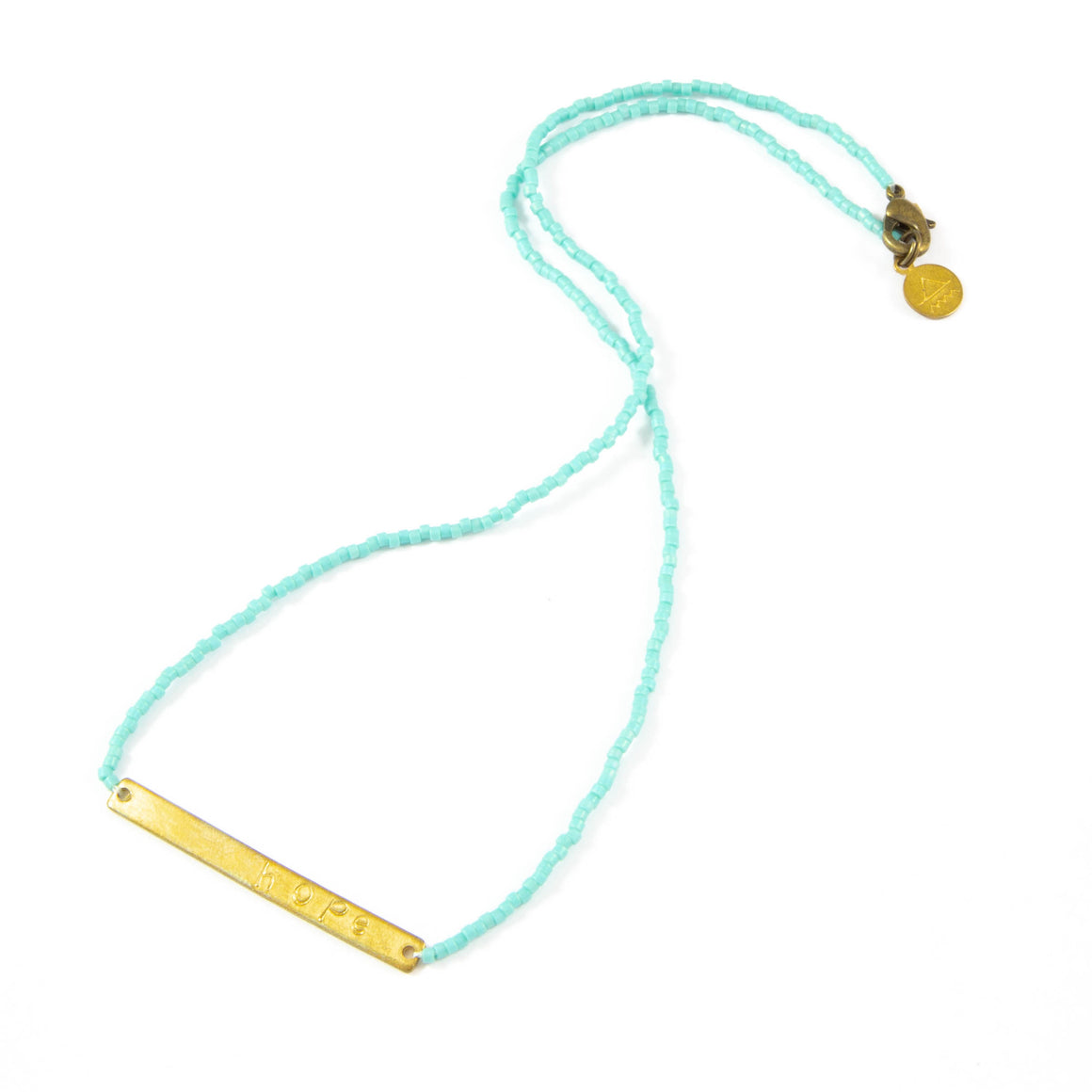 Teal HOPE Necklace