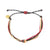 Black Burgundy & Tan String Carlos Bracelet