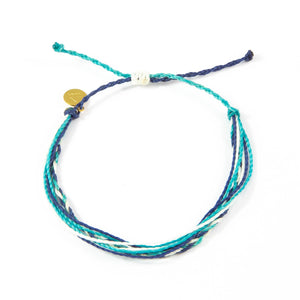 Navy & Teal Braided Education Bracelet