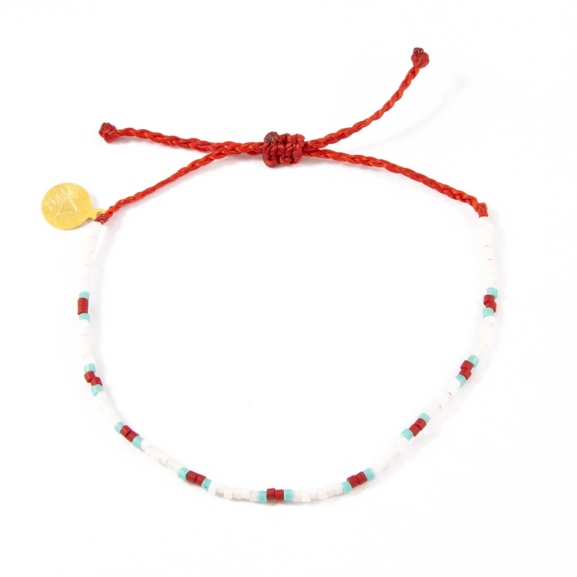 Bird of Paradise Dot Beaded Bracelet