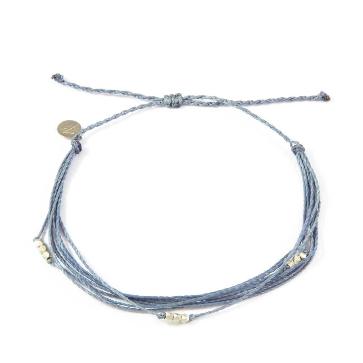 Denim Macua in Silver Anklet