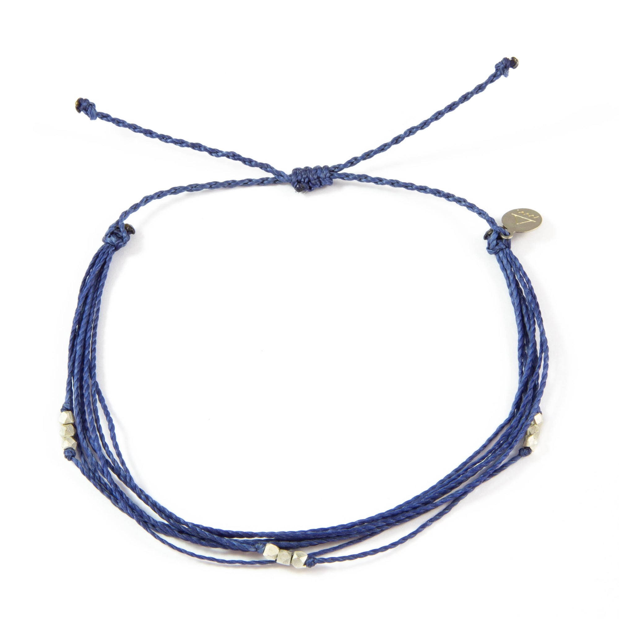 Navy Macua in Silver Anklet