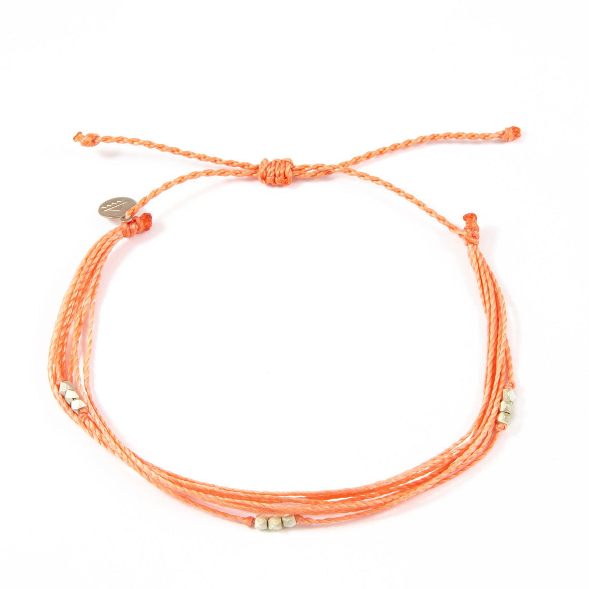 Coral Macua in Silver Anklet