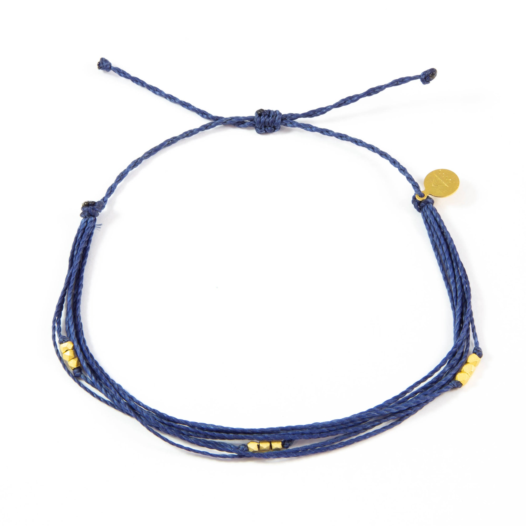 Navy Macua Anklet