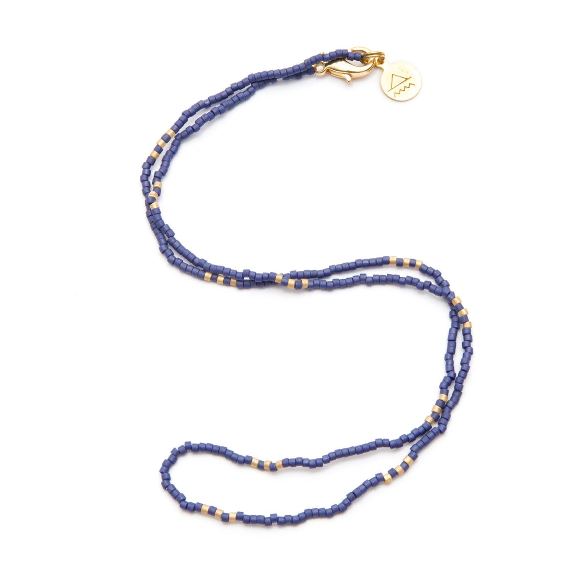 Navy Blue Simple Statements Necklace