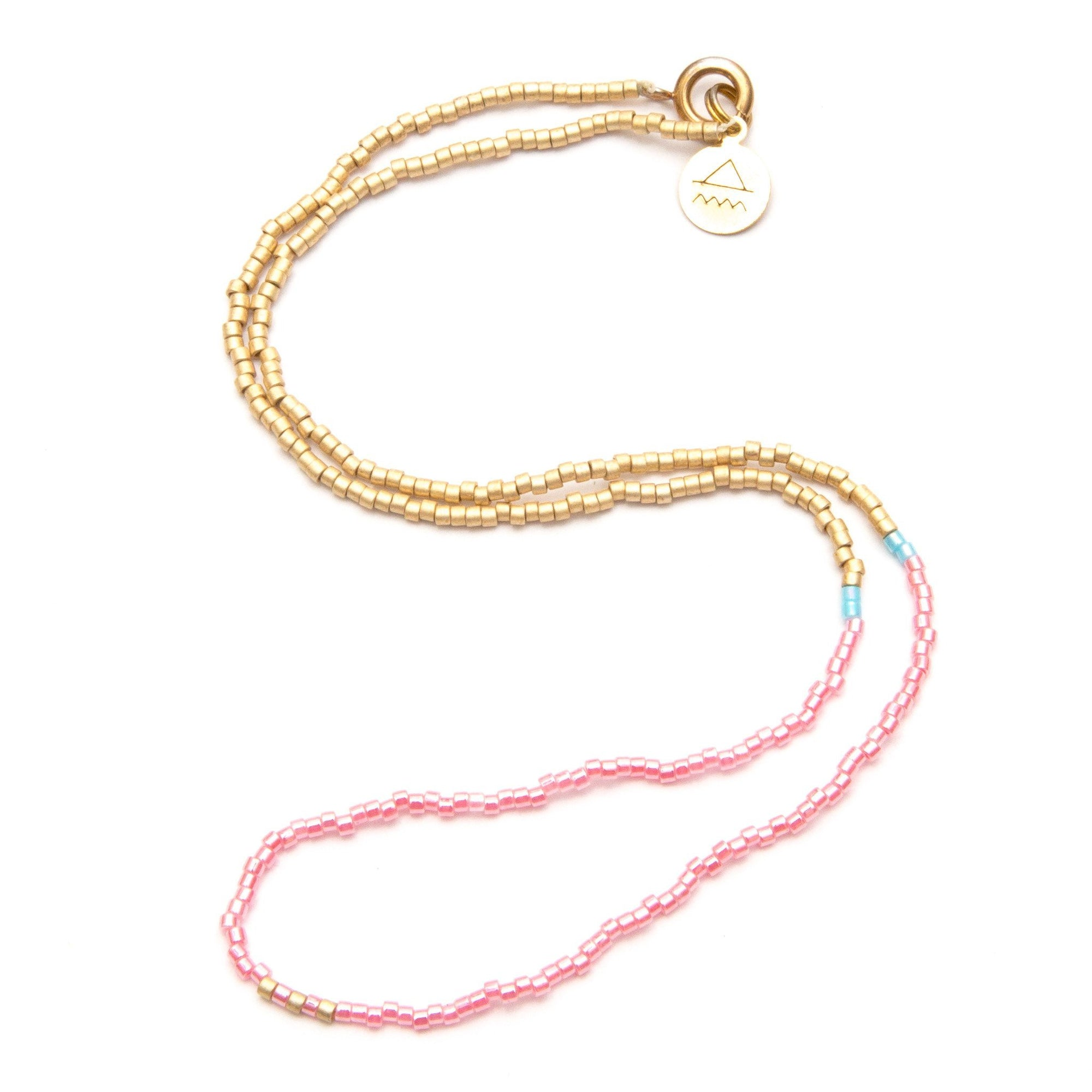 Pearl Pink Day at the Beach Necklace