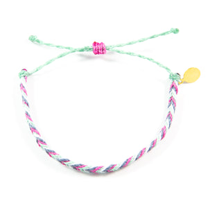 Rose & Denim Chevron Education Bracelet