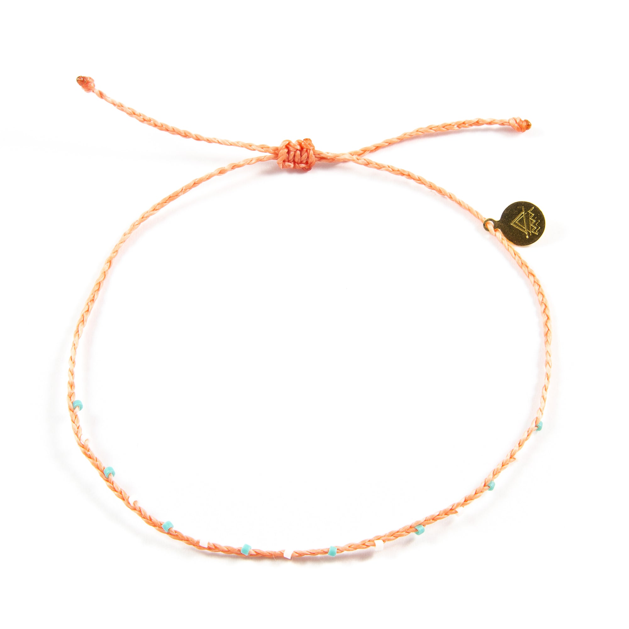 Coral Barely Beaded Anklet