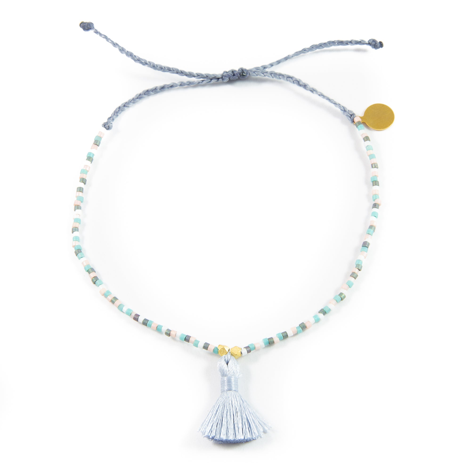 Dessert Sunset with Denim Tassel Anklet
