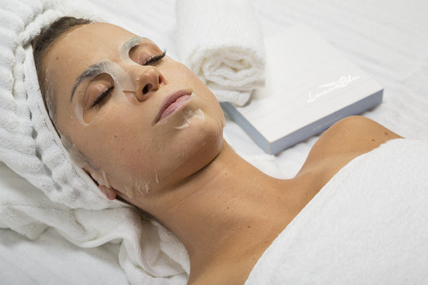 Moisturizing Facial Sheet Mask On Model
