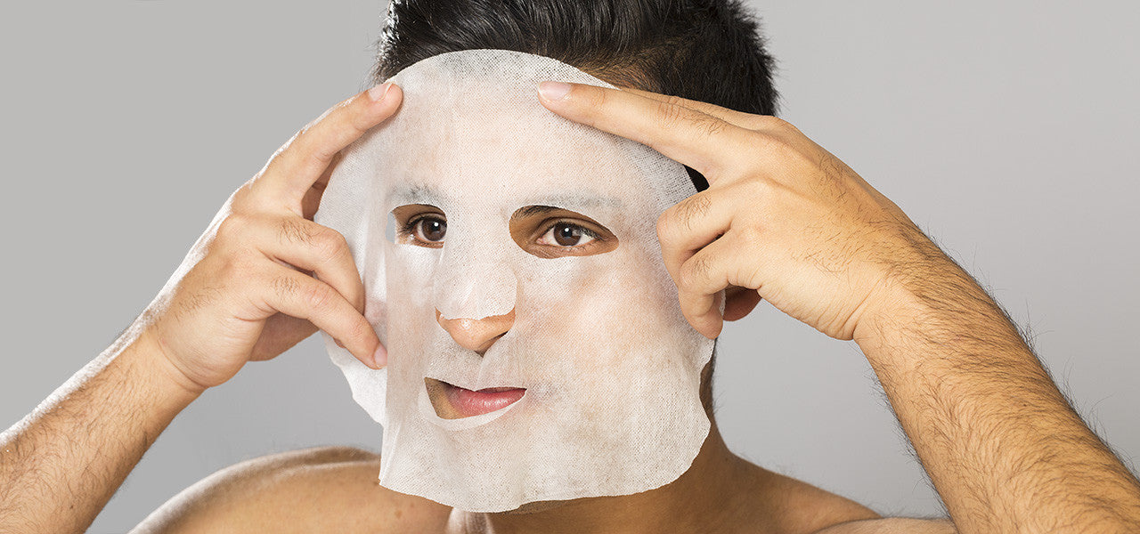 Man applying LuccaBlu Facial Mask