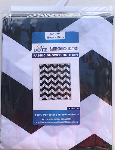 ... Black And White Chevron Shower Curtain   Polyester Fabric By DOTZ  Bathroom Collection