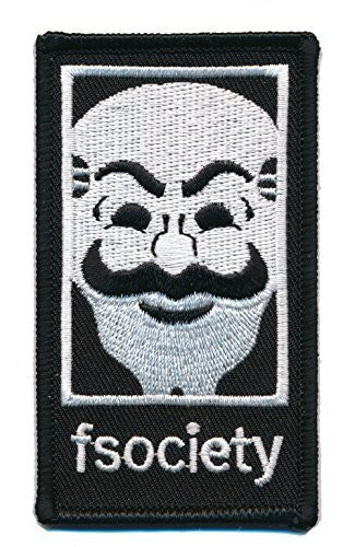 Patch Squad Men's FSOCIETY MR ROBOT TV Show Embroidery Patch