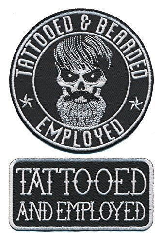 57ccd011f8a Tattooed Bearded And Employed Embroidered Patch Set – Patch Squad®