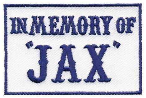 Patch Squad Men's Blue In Memory of Jax Biker Patch