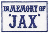 Patch Squad Men's Blue In Memory of Jax Biker Patch - Patch Squad