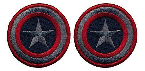 Patch Squad Men's Captain America Set of Two Tactical Embroidered Patch