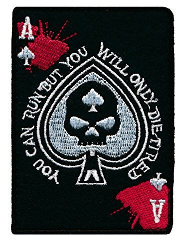 Patch Squad Men's Punisher Infidel Ace Of Spade You can Run Die Tired Tactical Patch