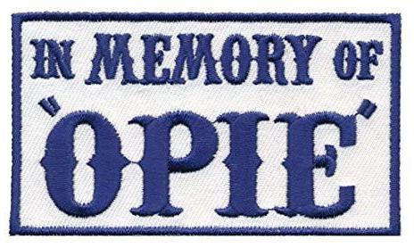 Patch Squad Men's Blue In Memory Of Opie Biker Patch