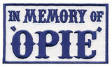 Patch Squad Men's Blue In Memory Of Opie Biker Patch - Patch Squad