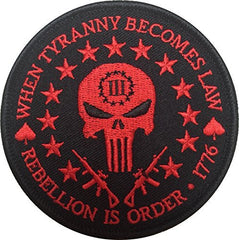 Patch Squad Men's Three Percent Tyranny Punisher Liberty Morale Patch