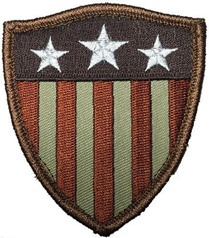 Patch Squad Men's Captain America Shield Stars Stripes Us Flag Morale Tactical Patch - Patch Squad