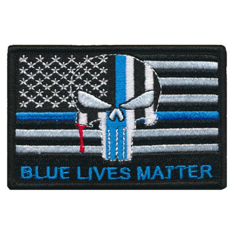 Tactical USA Flag Blue Lives Matter  Punisher Patch