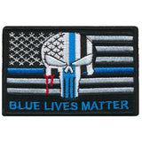 Tactical USA Flag Blue Lives Matter Police Punihser Patch