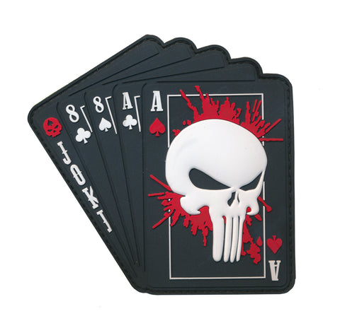 Ace Of Spade Dead Man's Hand 3D PVC Patch