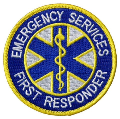 Emergency First Responder EMS / EMT Embroidered Patch