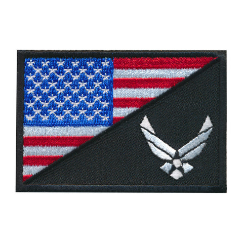 Tactical USA Flag / USA Air force Logo Embroidered Patch