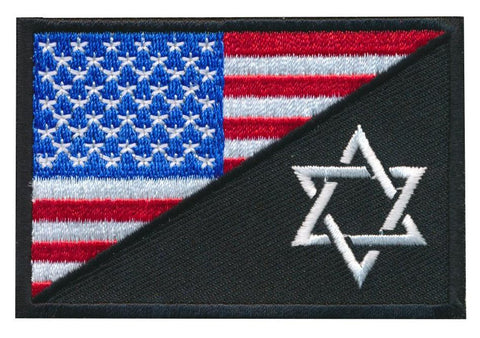 Tactical USA Flag / Jewish Star of David Embroidered Patch