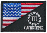Tactical USA Flag / Three Percent Oathkeeper Morale Patch