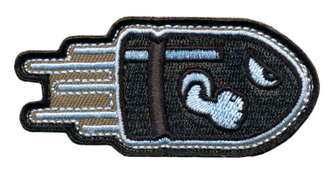 Angry Flying Bullet Embroidered Patch