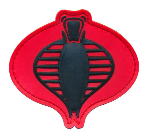 G.I. JOE Cobra Logo 3D PVC Patch