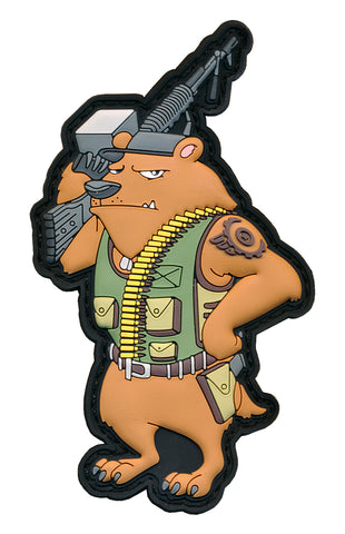 "Grizzly ""Machine Gun"" Bear Tactical 3D PVC Patch"